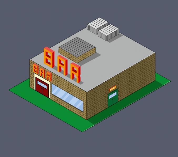 Illustration en 3D isométrique